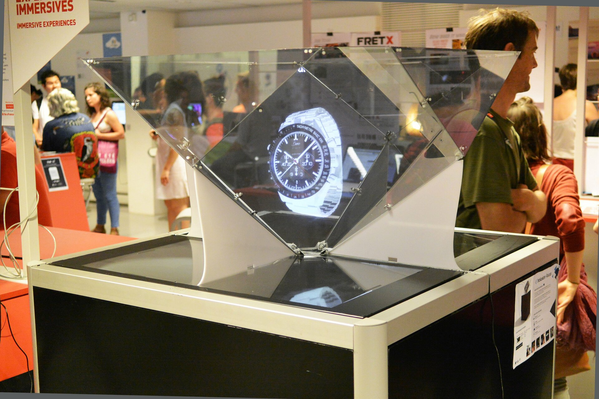 Holusion Focus device displays the 3D hologram
