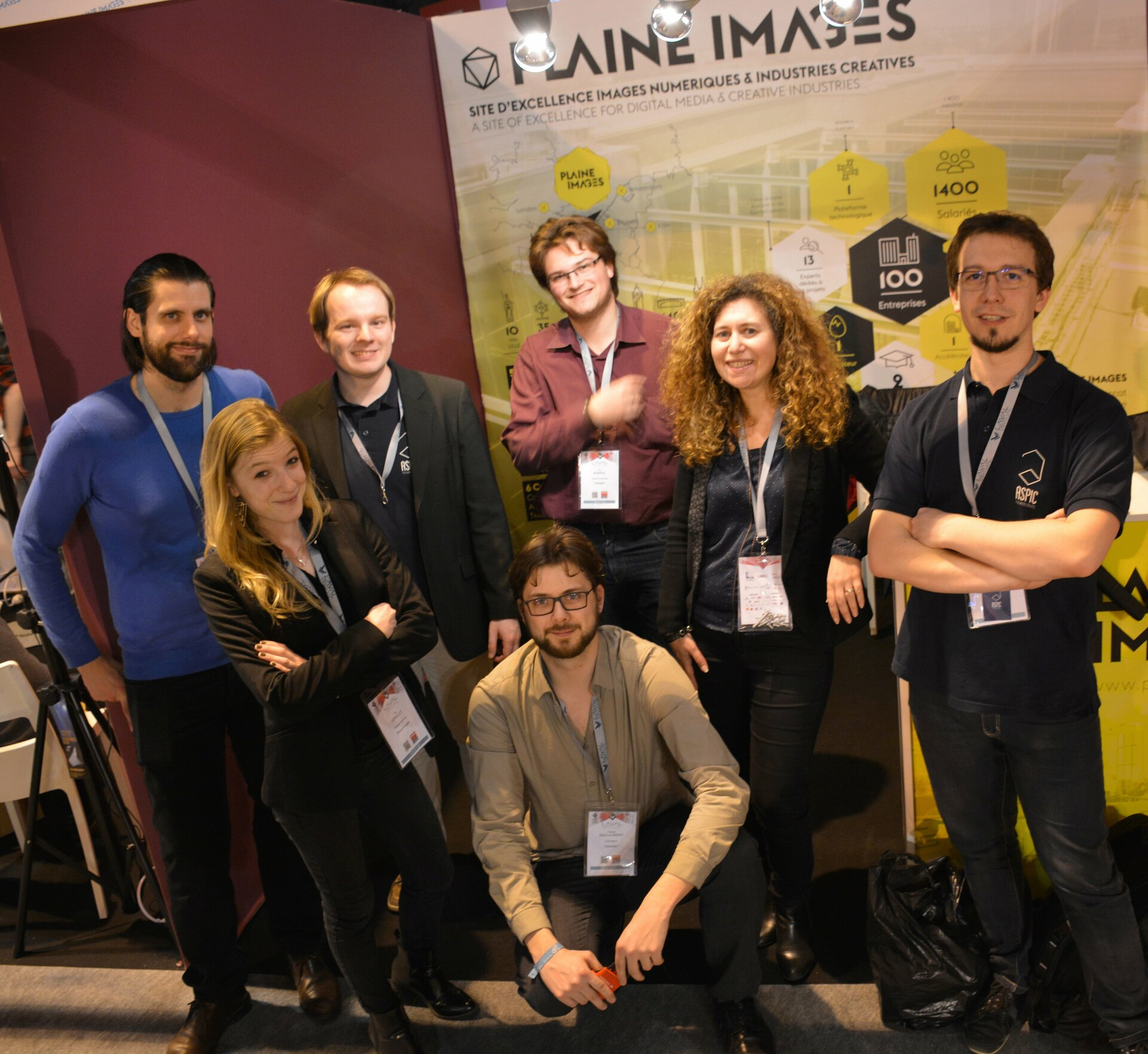 Plaine Images' team at the Laval Virtual