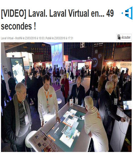 article Laval Virtual Ouest France