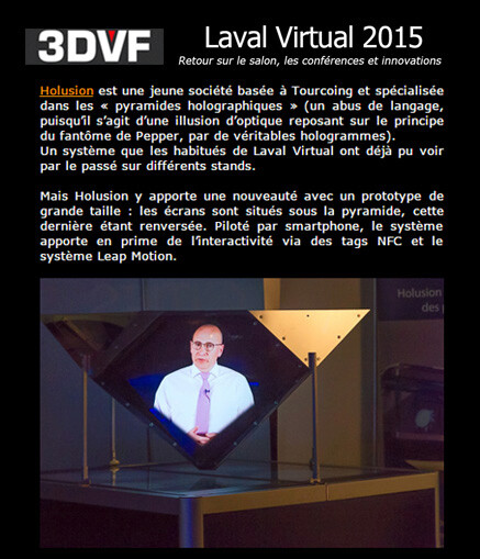 article 3DVF Laval Virtual 2015