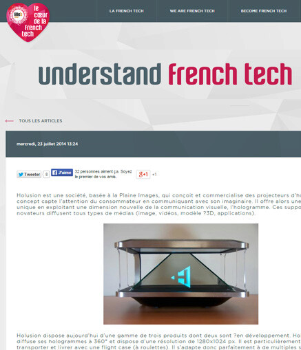 Article Holusion French Tech