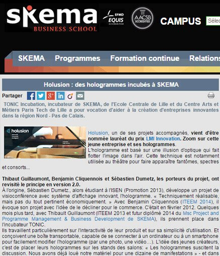 Holusion hologrammes Skema Business School