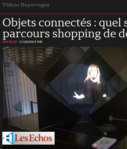article new shopping experience Les Echos