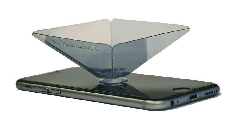holusion's Pixel : a small pyramid for portable holograms